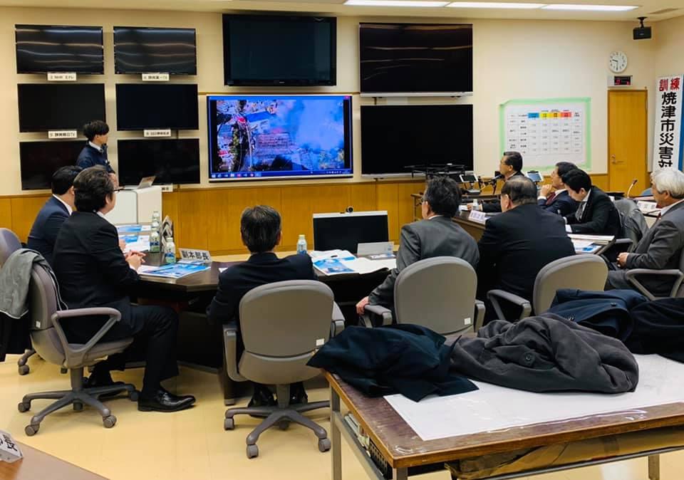 焼津市「ドローンを活用した防災対策」視察